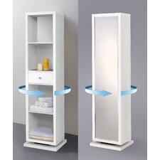 "Bella Home Deluxe 17.25"" x 71"" Mirror Free Standing Linen Tower"