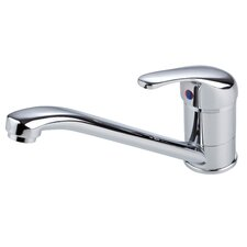 Single Handle Deck Mounted Monobloc Mixer Tap with Swivel Spout