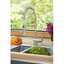 Single Handle Surface Mounted Monobloc Mixer Tap with Pull Out Spray