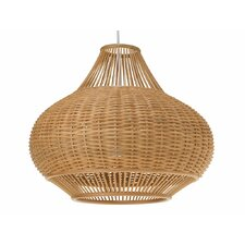 Wicker Pear 1 Light Pendant Lamp
