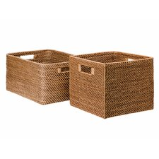 Square Rattan Storage Basket