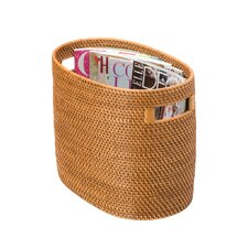 Rattan Magazine Rack and Newspaper Basket