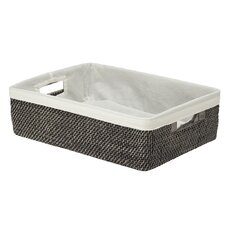 Rattan Shelf Basket with Cotton Liner