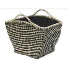 Rectangular Wicker Magazine Rack and Newspaper Basket