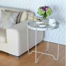 Kabibe Seashell Tray Table with Foldable Stand