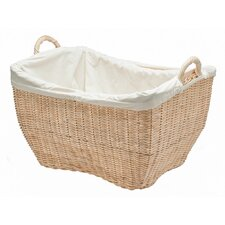 Wicker Laundry Basket with Cotton Liner