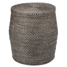 Rattan Storage Stool with Cotton Liner