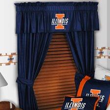 """NCAA 88"""" Illinois Illini Curtain Valance"""