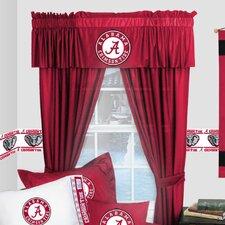 NCAA Alabama Crimson Tide Rod Pocket Drape Panels with Tiebacks (Set of 2)
