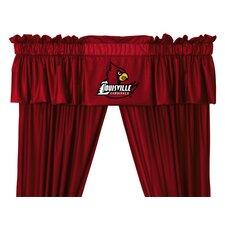 """NCAA 88"""" Louisville Cardinals Curtain Valance"""