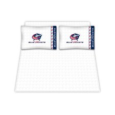 NHL Columbus Blue Jackets Microfiber Sheet Set