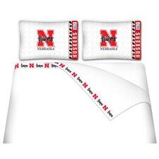 NCAA Nebraska Cornhuskers Microfiber Sheet Set