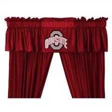 """NCAA 88"""" Ohio State Buckeyes Curtain Valance"""