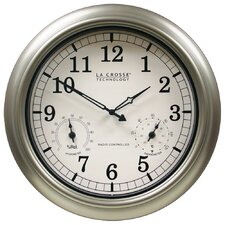 "18"" Atomic Outdoor Clock"