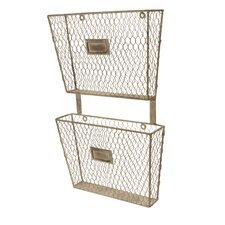 Metal 2 Tier File Holder