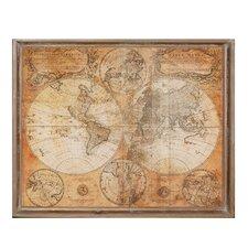 Wood World Map Graphic Art
