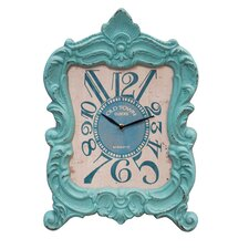 Wood Mantle and Wall Clock