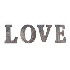 Metal 'Love' 4 Piece Letter Set