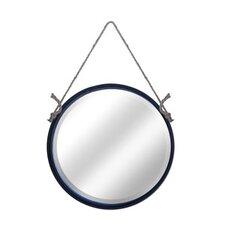 Metal Round Rope Hanging Mirror