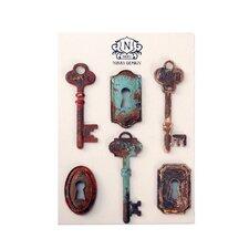 6 Piece Resin Key Magnet Wall Décor Set