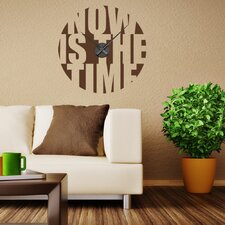 Now is the Time Wall Clock Wall Decal