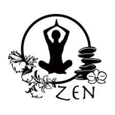 Zen Yoga Wall Decal