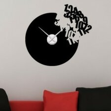 Flying Numbers Wall Clock Wall Decal