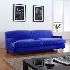Mid-Century Modern Large Sofa with Casters