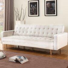 Mid-Century Modern 2 Tone Sleeper Futon Sofa
