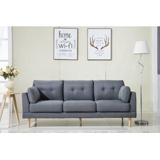 Mid Century Modern Ultra Plush Linen Fabric Sofa