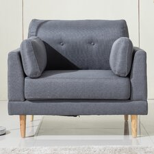 Ultra Plush Linen Fabric Club Chair