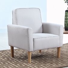 Mid Century Modern Fabric Living Room Armchair