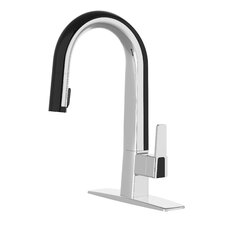 Willow Single Handle Deck Mounted Standard Kitchen Faucet with Pull Down