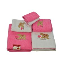 Lucia Minelli Kids Cute Bear Embroidered 6 Piece Towel Set