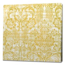 Queen's Damask Graphic Art on Wrapped Canvas
