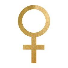 Woman Symbol Gold Foil Graphic Art