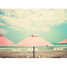 Retro Pastel Beach Photographic Print