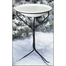 "20"" Heated Bird Bath with Metal Stand"