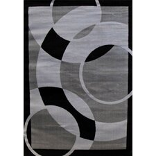 Abstract Gray Area Rug