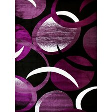 Tobis Abstract Purple Area Rug