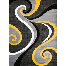Modern Yellow Area Rug