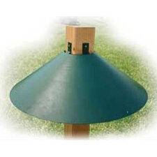 Wrap Around Steel Squirrel Baffle in Green