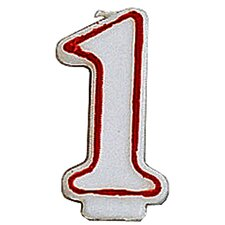 1 Numeral Birthday Candle