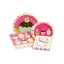 Sweet Treats Party Table Ware Kit (Set of 64)