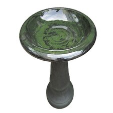 Fiber Clay Bird Bath
