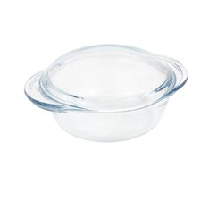 Glass Small Round Casserole with Lid