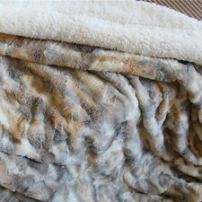Russian Lynx Faux Fur Throw Blanket