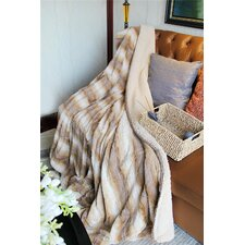 Threshold Faux Fur Throw Blanket
