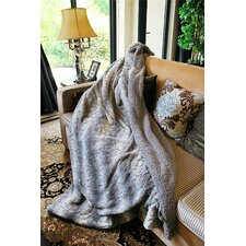 Snow Giraffe Faux Fur Throw Blanket