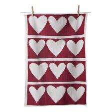 Hearts Flour Sack Towel (Set of 2)
